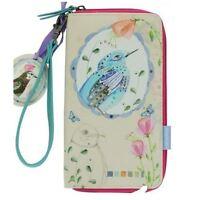 Santoro Eclectic 'watercolour Birds' Large Zipped Wallet