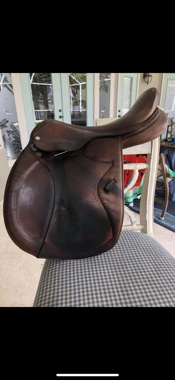 Marcel Toulouse Close Contact Marronee Premia Jumping Used Saddle 18 English