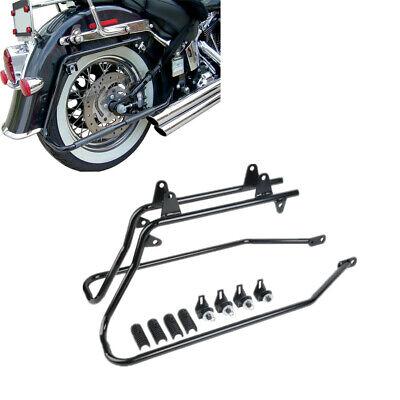 Black Saddle bags Conversion Brackets For Harley Fatboy Softail Models 1984-2013