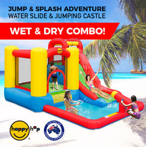 Happy hop inflatable water slide jump splash adventure for Happy hop inflatable water slide