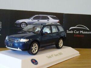 ATLAS-EDITIONS-MUSEUM-SAAB-97-9-7-X-AERO-2005-BLUE-CAR-MODEL-LM28-1-43
