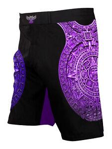 Raven Fightwear Men's Aztec Ranked BJJ MMA Shorts Purple