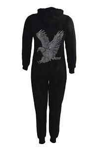 574a2e7171f New Womens Plus Size All in One Ladies Eagle Stud Falcon Rhinestone ...
