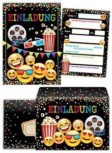 Das Bild Wird Geladen Einladungskarten Umschlaegen Kindergeburtstag Kino  Maedchen Junge Einladung Jungs