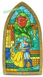 Disney-World-Parks-Exclusive-Beauty-And-The-Beast-Stained-Glass-Window-Frame