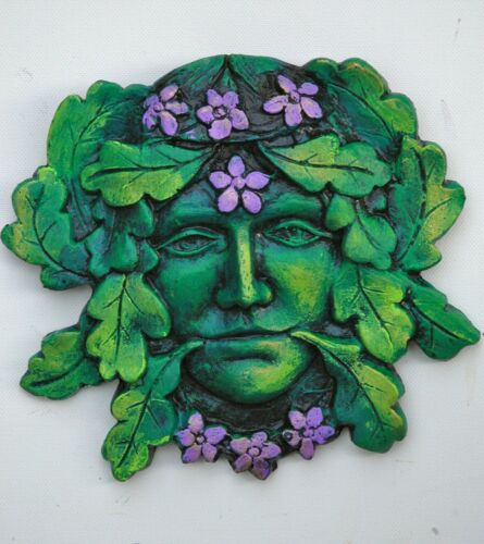 Déesse Greenman Homme Vert Plaque Murale Pagan Wicca Indoor version