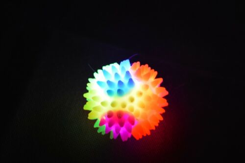 Party 2 Sizes Bulk Light Up Spikey Bouncy Ball Flashing LED Sensory