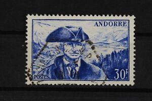 B2-Europa-Andorra-franz-138-gestemp-Stempel-verdeckt-saubere-Zaehnung