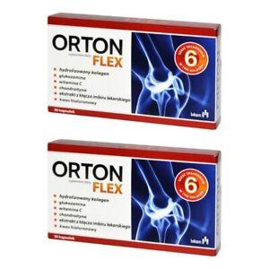Orton Flex 60 Caps (2x30) COLLAGEN GLUCOSAMIN CHONDROITIN, HEALTHY JOINTS, 4FLEX