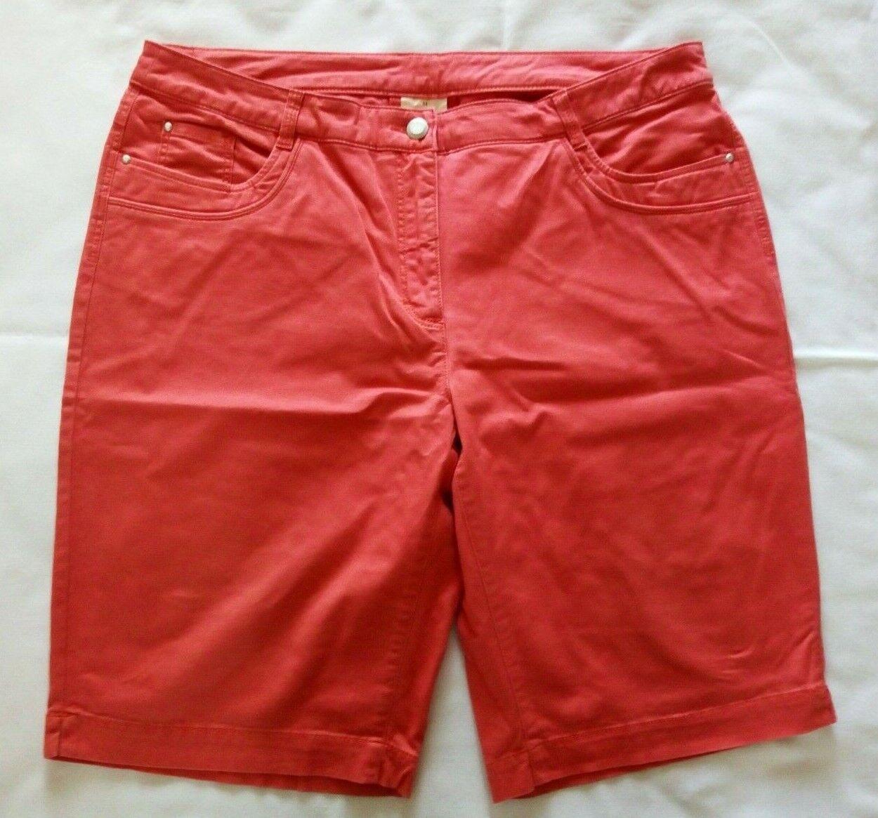 Adagio Sommer Shorts Bermuda Gr.44 Baumwolle Elasthan koralle- UVP34,99 NEU