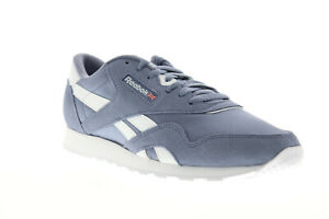 Reebok-Classic-Nylon-DV5789-Mens-Blue-Suede-Casual-Low-Top-Sneakers-Shoes