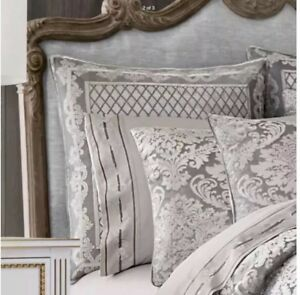 J. Queen New York European Euro Sham  Bel Air Silver