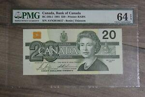 PMG-Canada-Bank-of-Canada-BC-58b-i-1991-20-Bonin-Thiessen-64-EPQ