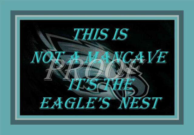 Sports Mem, Cards & Fan Shop Philadelphia Eagles Nest Man Cave Sign Poster NFL Football