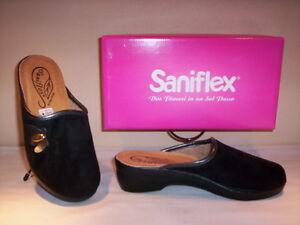 nuova selezione 2019 reale vendita online Détails sur Ciabatte pantofole comode Saniflex donna chiuse invernali da  casa nere nuove 35