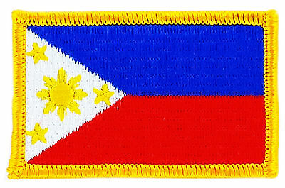FLAG PATCH PATCHES Philippines FILIPINO IRON ON EMBROIDERED SMALL