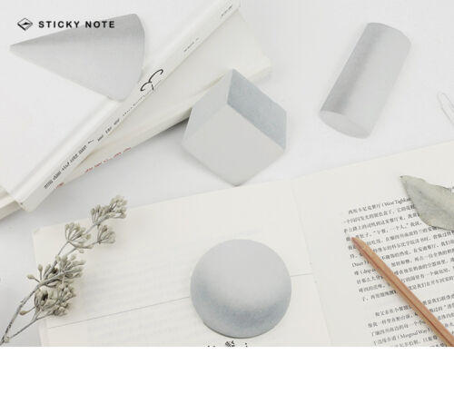 3D Effect Geometry Shapes Novelty Sticky Notes School Maths Teachers Gift