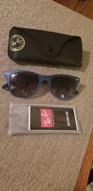 07abcf24d88 Authentic Ray Ban Tech RB4195 Liteforce Wayfarer 60158G Matte Blue  Sunglasses