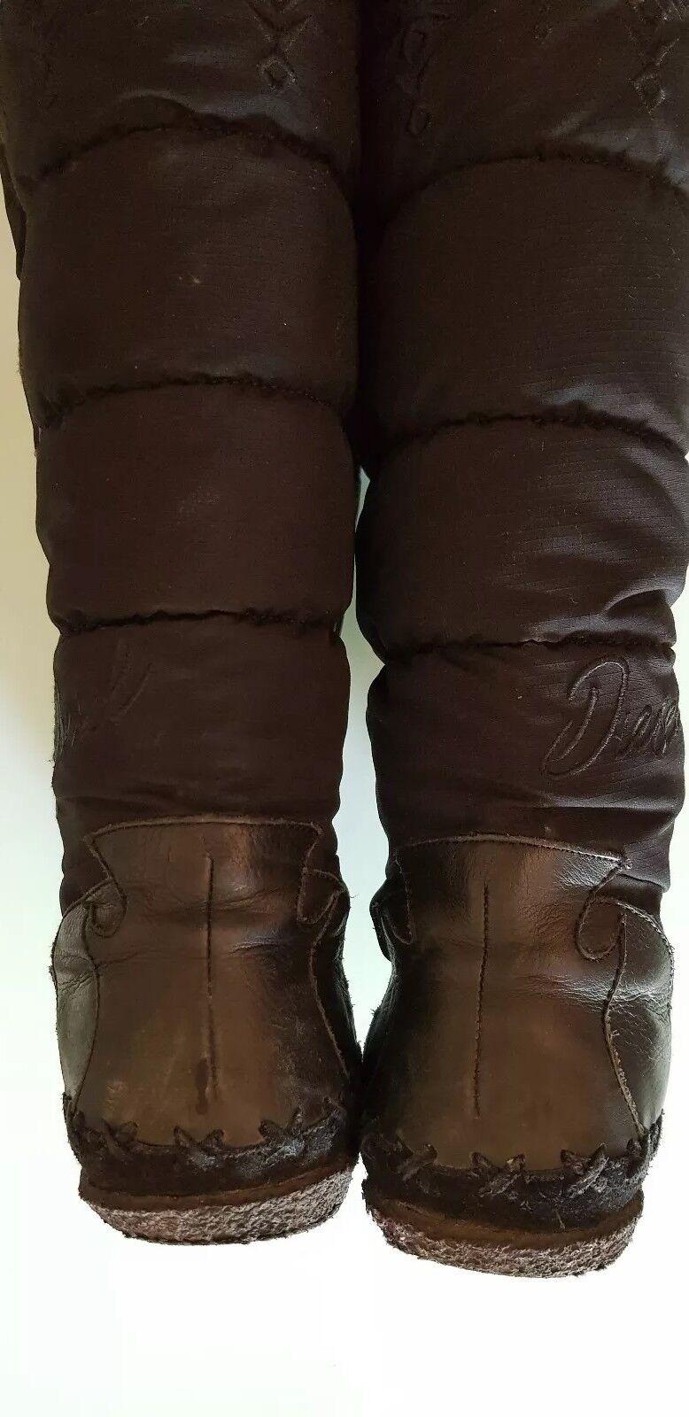 Diesel Stiefel Leder Leder Stiefel -Textil upper gr.39 2636cd