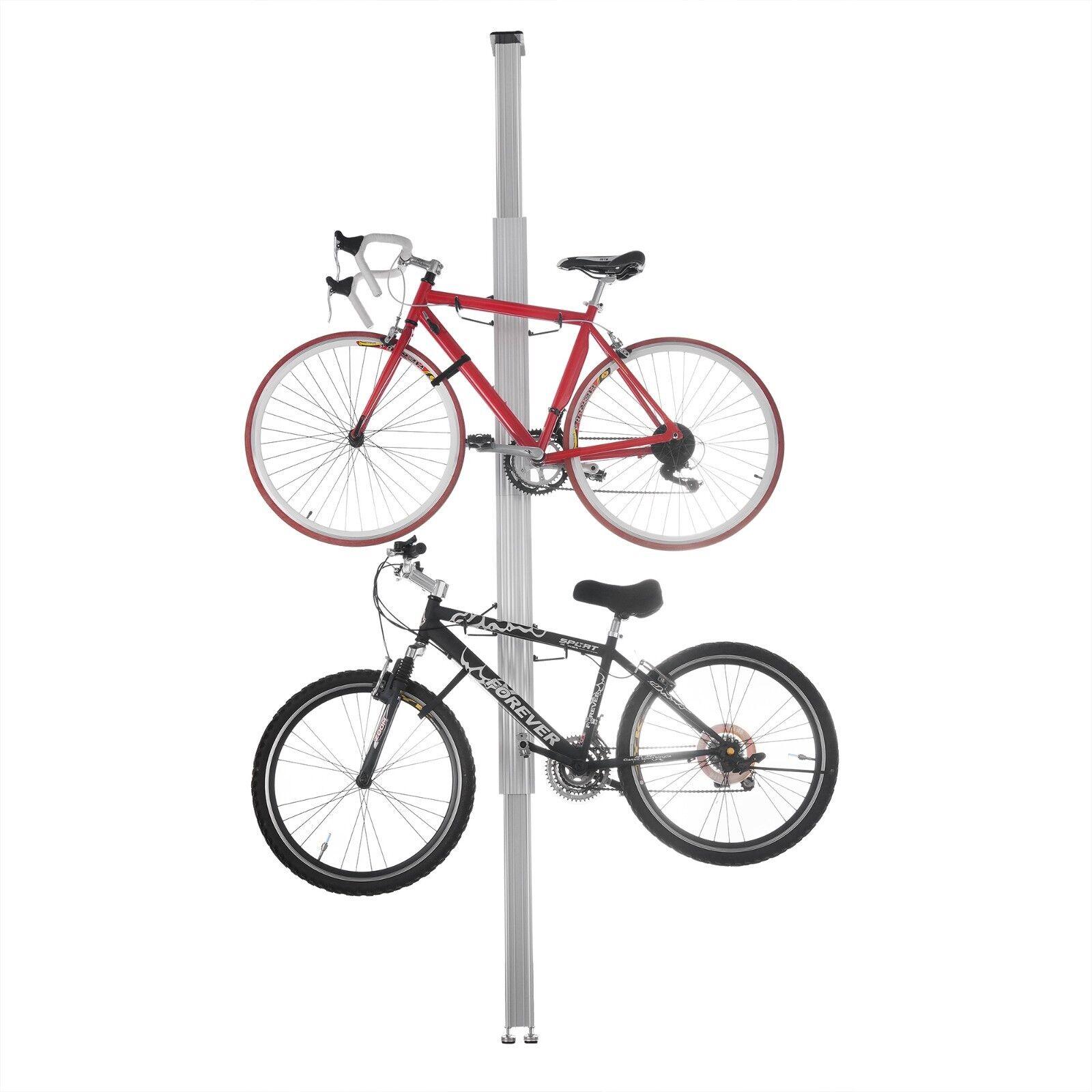 Aluminio Soporte de Bicicleta para bicicletas almacenamiento de información o pantalla posee dos bicicletas