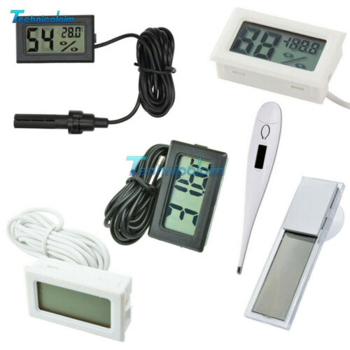 White//Black Aquarium Temperature Gauge LCD Display Digital Thermomer FIish Tank