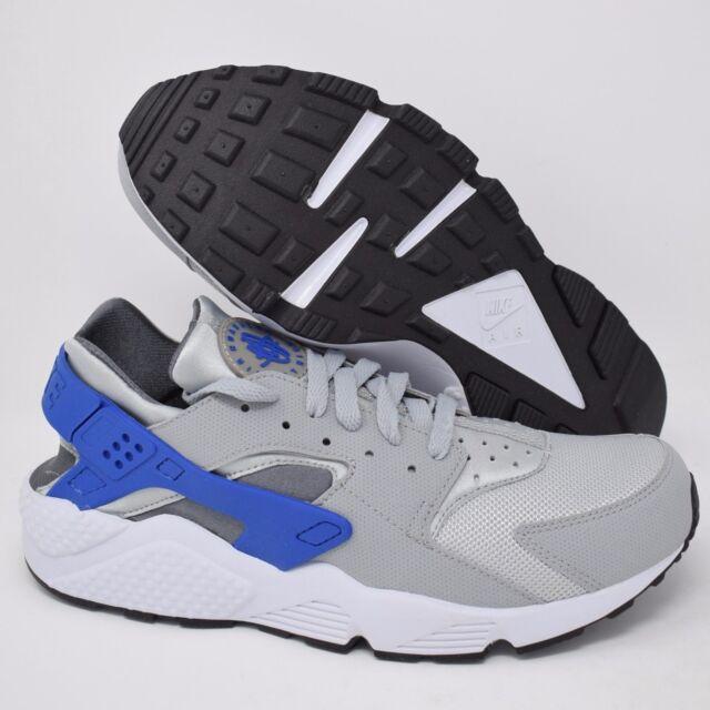 a240168a3a66 Authentic Nike Air Huarache Run Wolf Grey Royal Blue White 318429 ...
