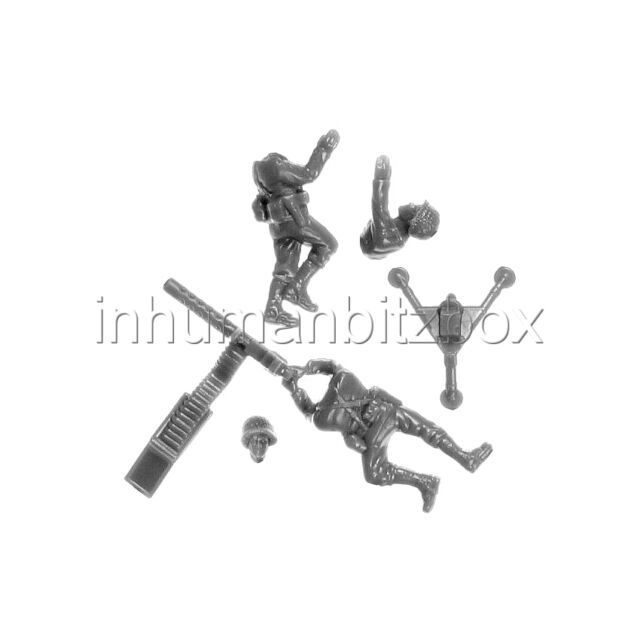 ULHW2 M1919 + 2 CREWS + BASE M US LATE WW2 FLAMES OF WAR BITZ PSC 15mm