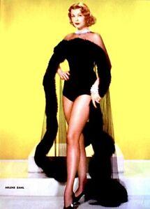 Arlene-Dahl-1952-Vintage-Pinup-Litho-Virgil-Apger-Photo-Publicity-Promo-COA