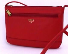 162294eafc Fossil Real Red Leather Gift Mini Crossbody Messenger Bag Zb6682622 ...