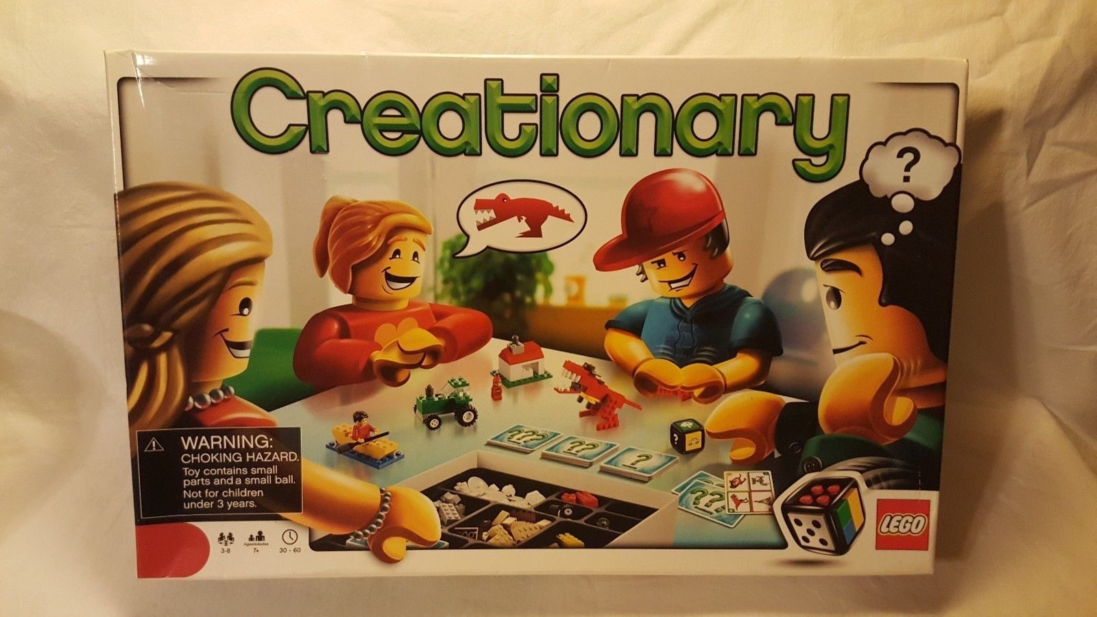 LEGO Creationary Game (3844) Building Set In Box Incomplete Discontinued