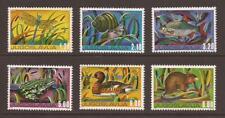 YUGOSLAVIA 1976 SG1727/1732 Youth Day. Freshwater Fauna Set MNH (WJ496)