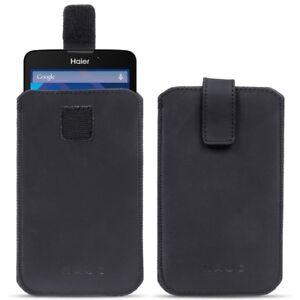 Haier-Phone-Voyage-V3-Leder-Tasche-Pull-Tab-Sleeve-Huelle-Schutzhuelle-Case-Cover