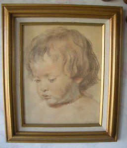 PORTRAIT-OF-A-LITTLE-BOY-by-Peter-Paul-Rubens-Estate-Framed-Art-HEAD-OF-A-BOY