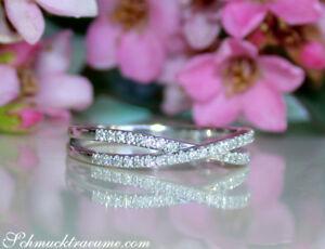Zarte Linien: Extra Schmaler Diamant Ring W Si Weißgold 750 Ab 1.050€ Geeignet FüR MäNner Frauen Und Kinder 0,19 Ct