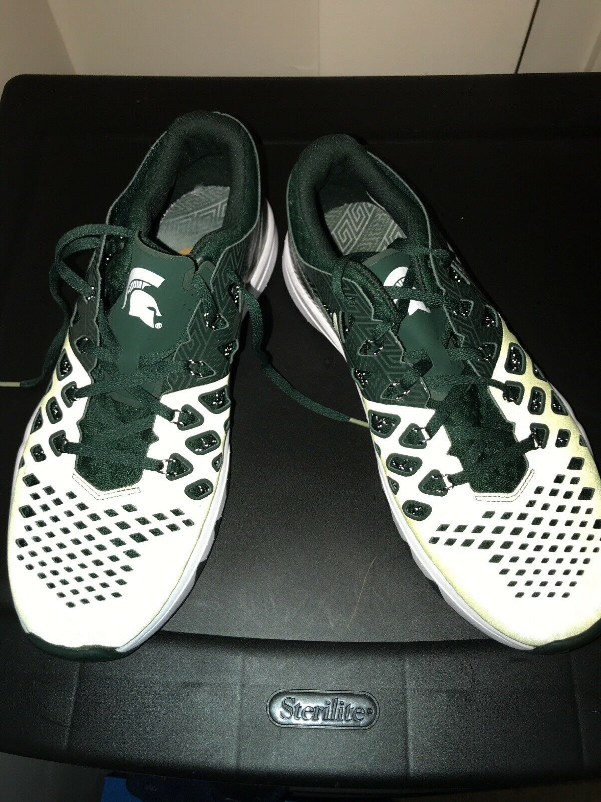 Nike Train Speed 4 AMP Shoes Michigan State Spartans 844102 309 Men's Size 9.5