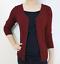 Women-Fitted-Cardigan-V-Neck-3-4-Sleeve-Vintage-Soft-Knit-Basic-amp-Plus-Size thumbnail 61