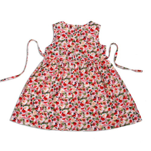 New Floral Girls Party Dress in Pink Black 9-12 12-18 18-24 Months 2-3 Years