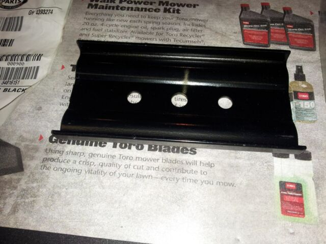 Toro Lawnmower Blade Support, Stiffener 108-3766-03 New OEM Toro Blade Holder