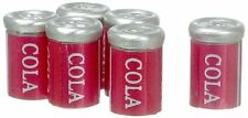Dollhouse Miniature Set of 6 Tin Soda Pop Cans
