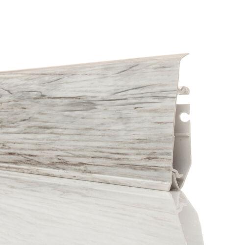 2,5m Fussleisten PVC 70mm FRESCO Zubehörteil Sockelleisten Laminatleisten