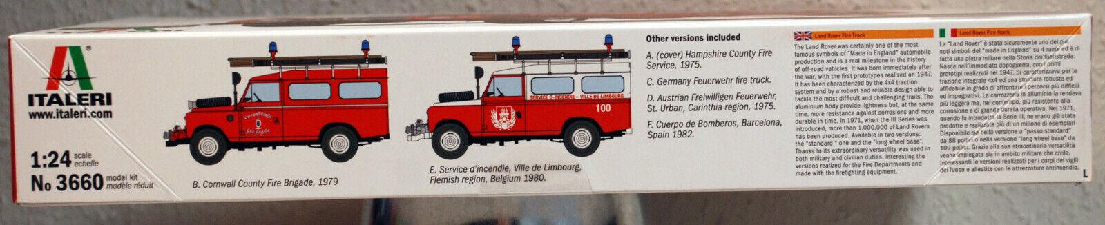 Land Rover Fire Truck Feuerwehr 1:24 Model Kit Bausatz Italeri 3660