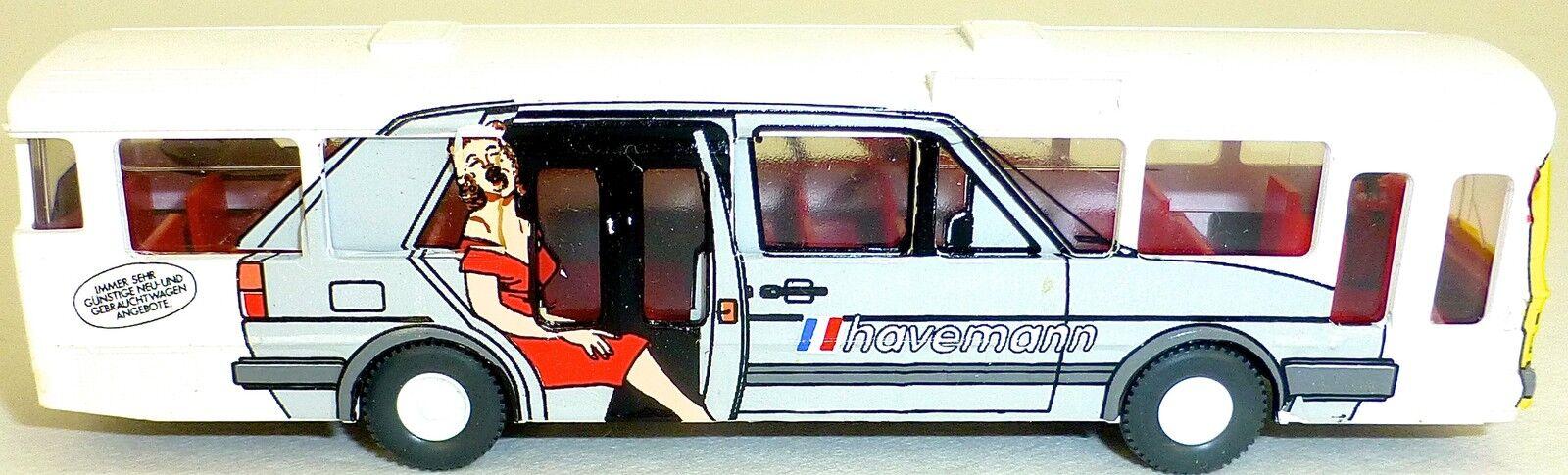 Havemann Porsche MB o305 GESUPERT aus WIKING Bus H0 1 87  GD4 å