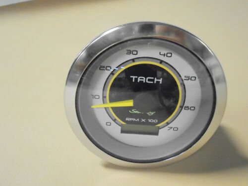 """VEETHREE 3"""" TACH//LCD HOUR 7K GAUGE FOR SEA RAY SPORT BOATS"""