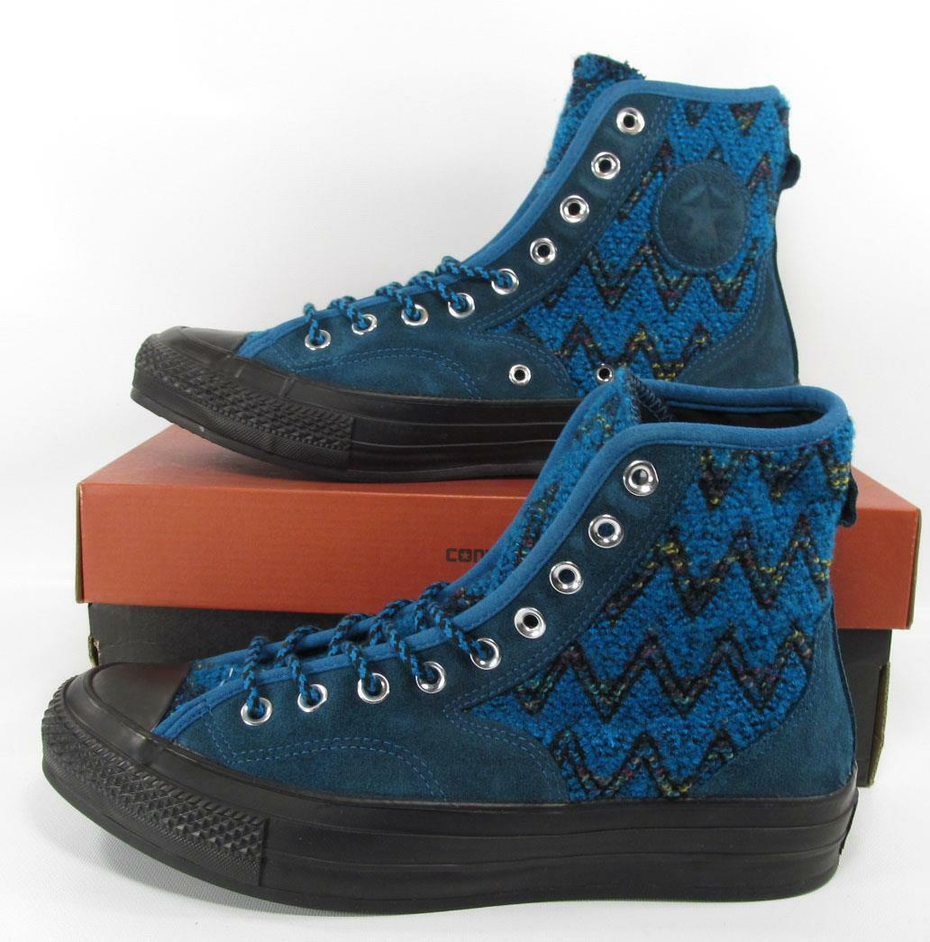 Converse X Missoni Chuck Taylor 1970's 70's Hiker Hi High Top BLUE $200 155233C