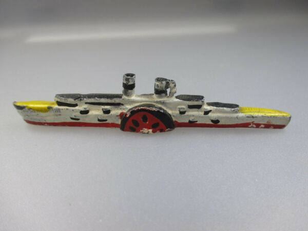 Geschickt Hamacher Schiffsmodell , Raddampfer Mannheim, Maßstab 1:1250 (nh21)