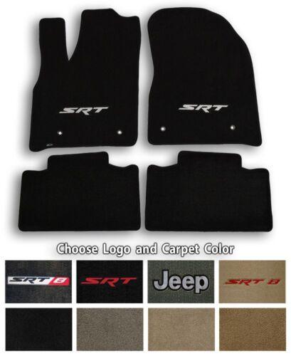 Choose Color /& Logo Jeep Grand Cherokee Velourtex Carpet 4pc Floor Mat Set