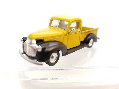 Ho Cmw Mini Metals #30269 1941/46 Chevrolet Pickup Truck Yellow & Black Dependable Performance 1:87