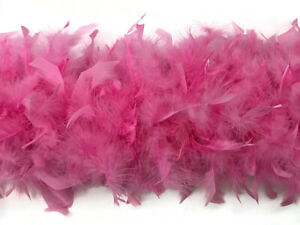 2 Yards Pale Pink Heavy Weight Chandelle Turkey Feather Boa Supply80 Gram