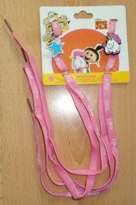 Kinder Mädchen Schnürsenkel Minions Pink / Einhorn Stern