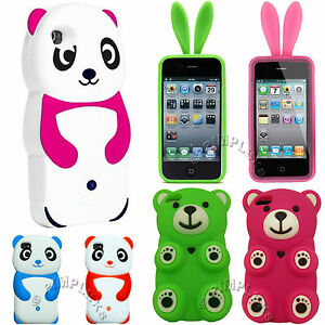 CUTE-HUMOROUS-FUNNY-3D-BEAR-PANDA-BUNNY-SOFT-SILICONE-ANIMAL-SKIN-COVER-CASE